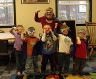 Story Time creates superhero readers! Your library provides classes, books, magazines, many new-release DVDs, Music CDs, Video G